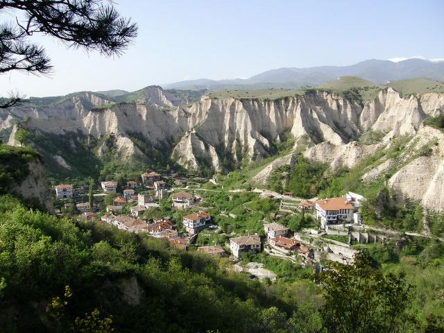 Град Мелник изглед от високо